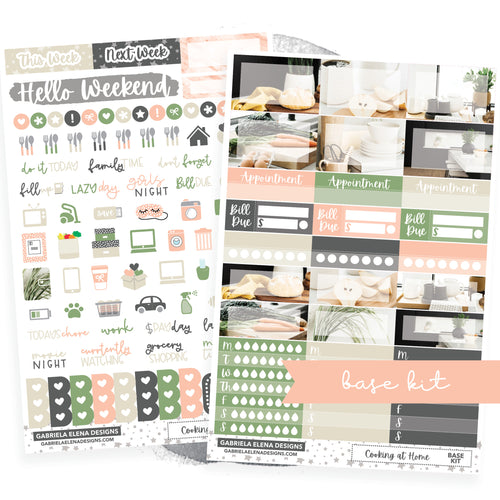 Cooking at Home / Photo Series // BASE KIT / Icons / Functional / Sticker Kit