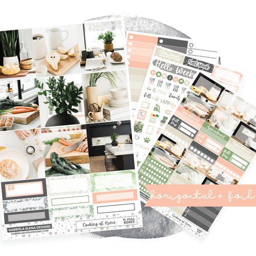Cooking at Home / Photo Series // EC HORIZONTAL / Sticker Kit / FOIL