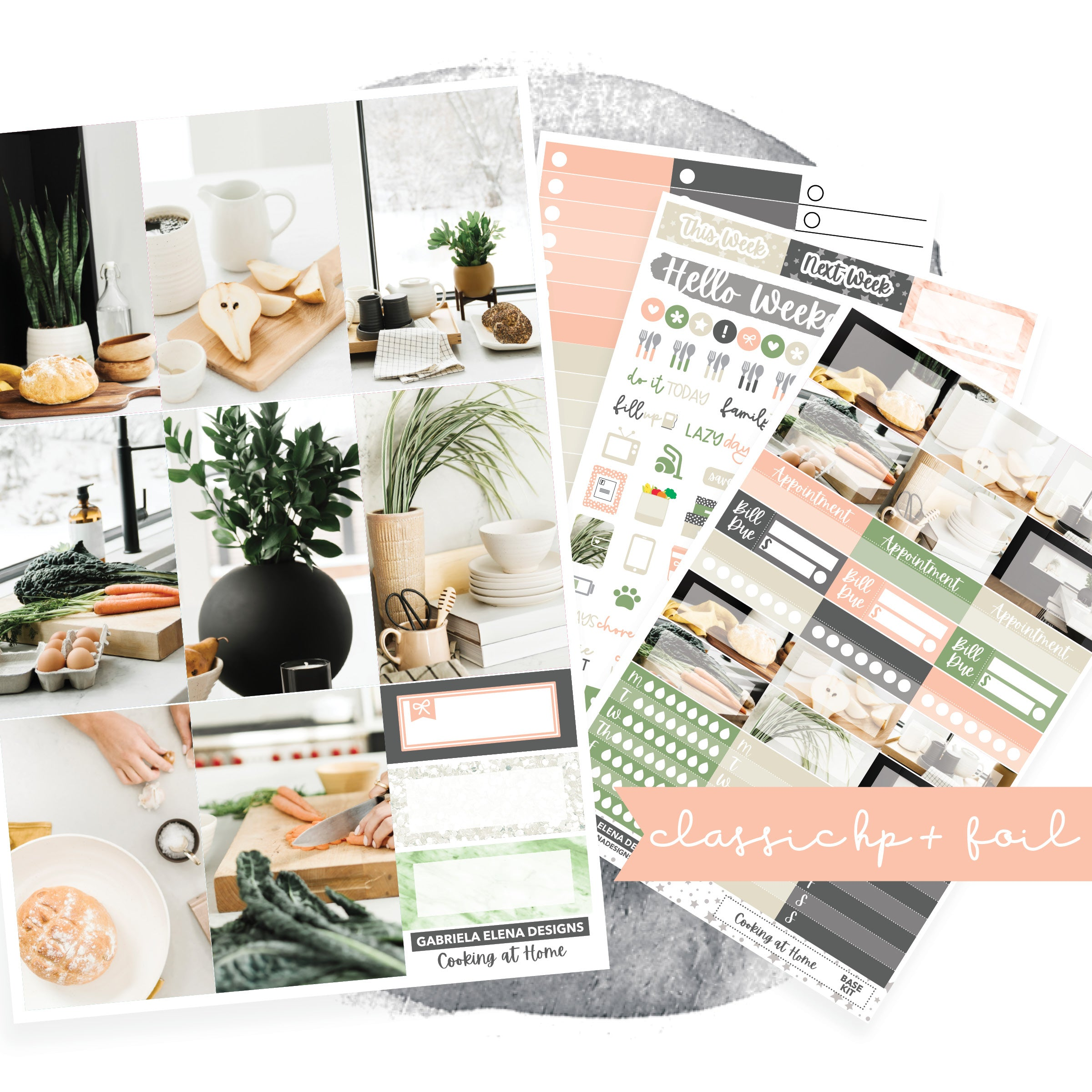 Cooking at Home / Photo Series // CLASSIC HAPPY PLANNER / Sticker Kit / FOIL