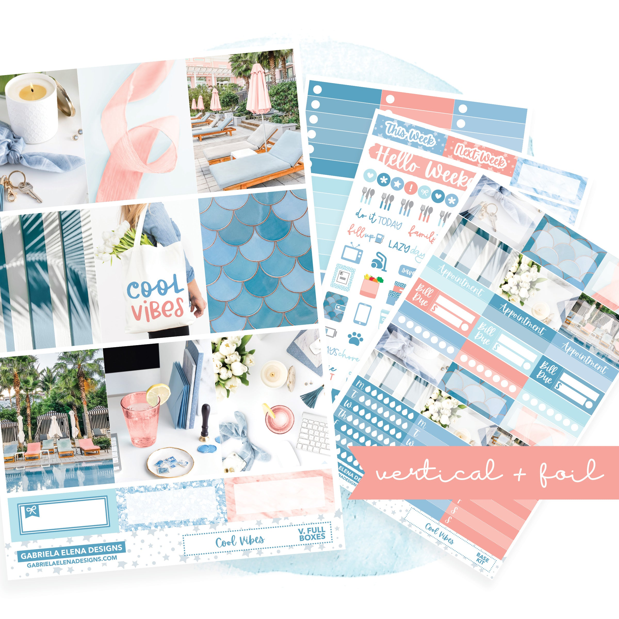 Cool Vibes / Photo Series // VERTICAL / Sticker Kit / FOIL