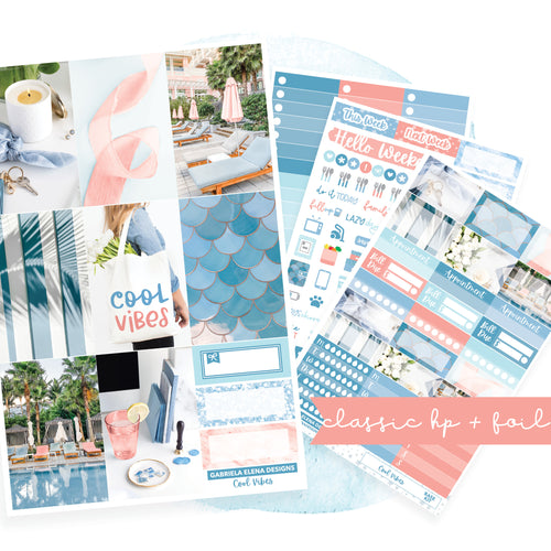 Cool Vibes / Photo Series // CLASSIC HAPPY PLANNER / Sticker Kit / FOIL