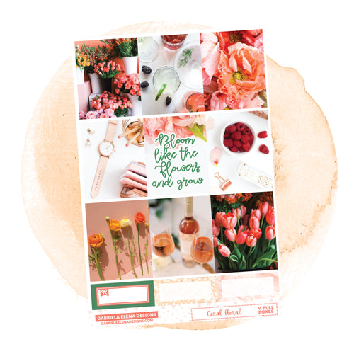 Coral Floral // a la carte / Sticker Kit / Full Boxes / FOIL