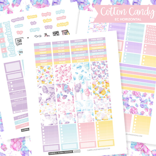 HORIZONTAL Printable / Instant Download / Cotton Candy