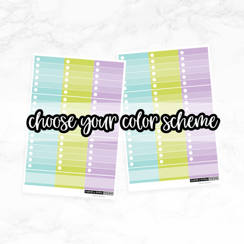 CUSTOMIZED // Checklist Boxes // Choose your Color Scheme