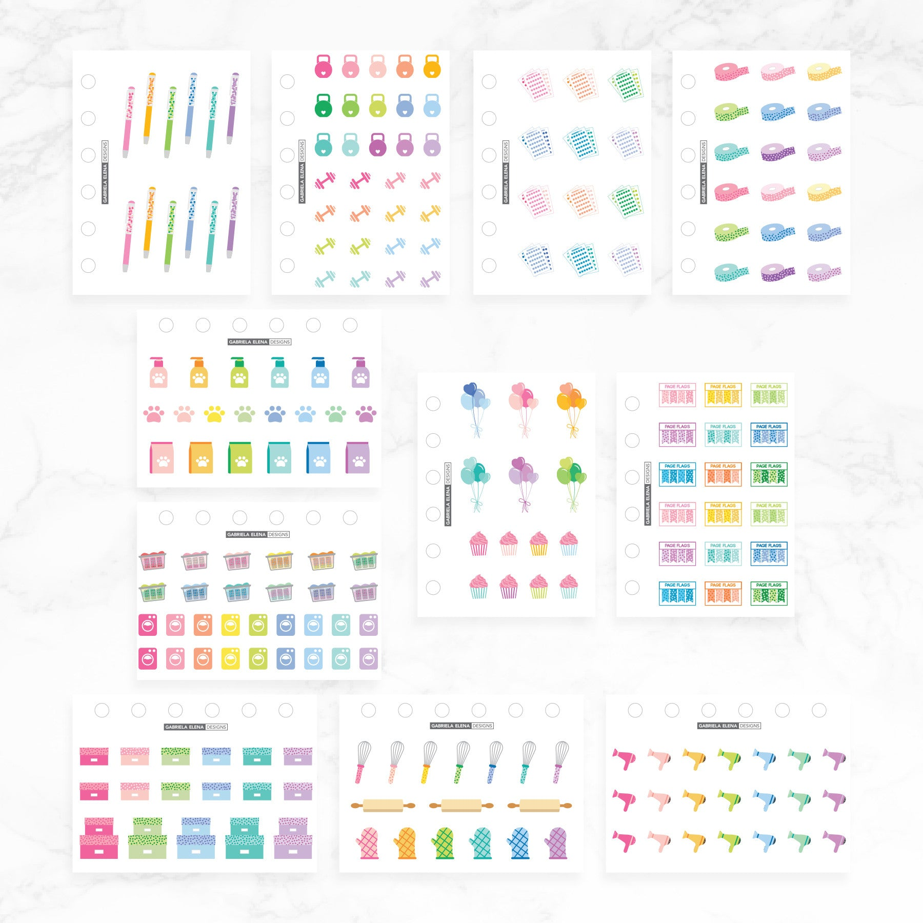 Decorative + Drawn Favorites Bundle // Sticker Book Inserts