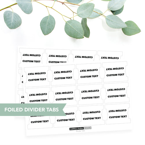 CUSTOM // FOILED // Divider Tabs / Option 2