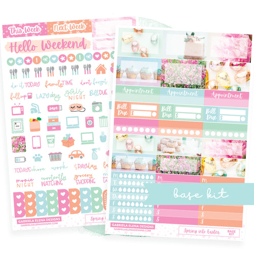 Spring into Easter / Photo Series // BASE KIT / Icons / Functional / Sticker Kit