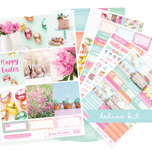 Spring into Easter / Photo Series // Deluxe EC VERTICAL // Sticker Kit // Full Weekly Kit