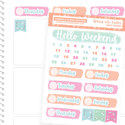 Spring into Easter / Photo Series // a la carte / Sticker Kit Add On / Date Headers