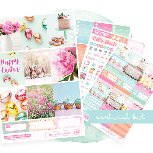 Spring into Easter / Photo Series // EC VERTICAL / Sticker Kit