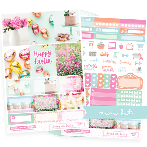 Spring into Easter / Photo Series // MINI KIT / Sticker Kit