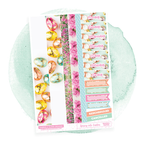 Spring into Easter / Photo Series  // a la carte / Sticker Kit Add On / Washi and Date Covers