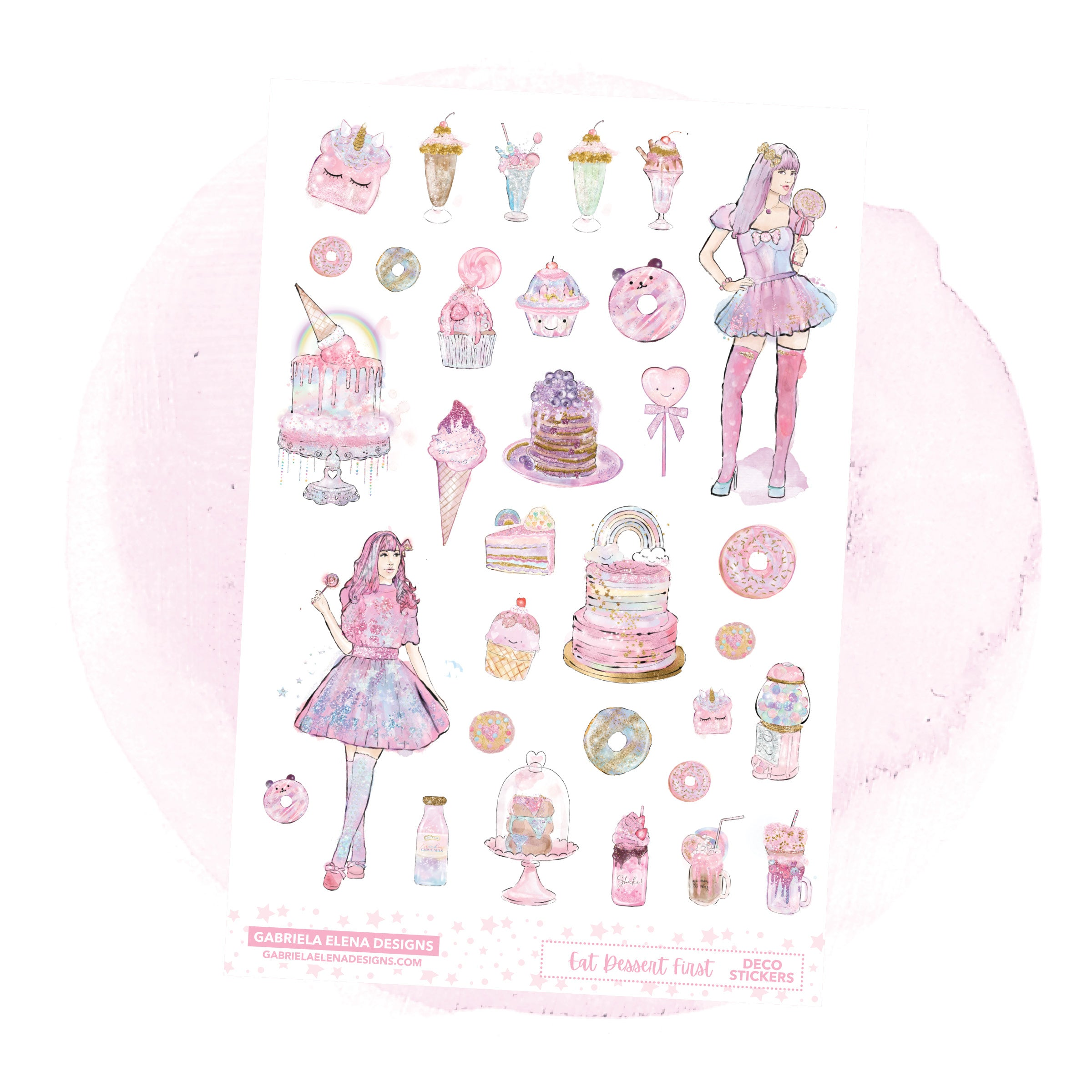 Eat Dessert First // a la carte / Sticker Kit Add On / Deco