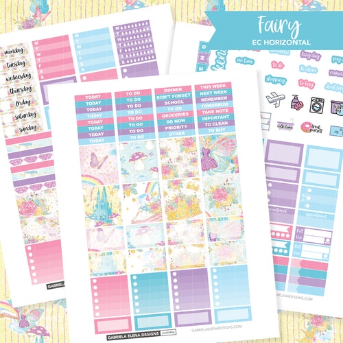 HORIZONTAL Printable / Instant Download / Fairy