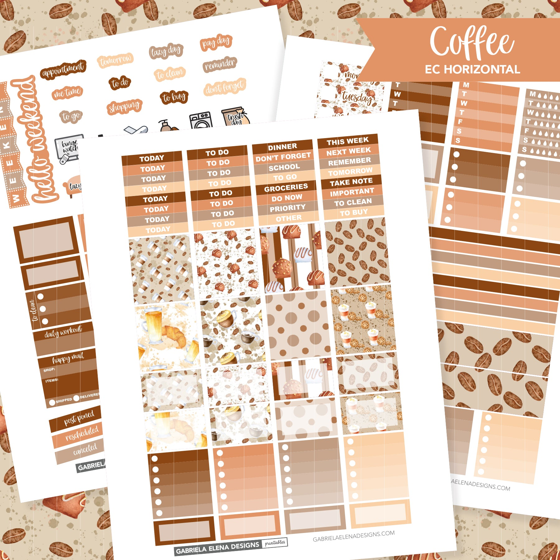 HORIZONTAL Printable / Instant Download / Coffee