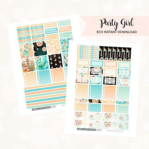 HORIZONTAL Printable / Instant Download / Party Girl