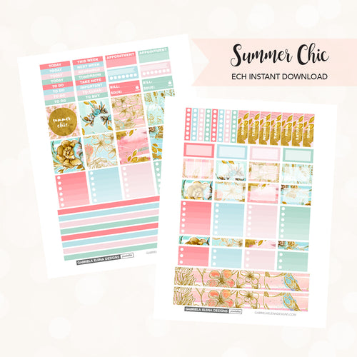 HORIZONTAL Printable / Instant Download / Summer Chic