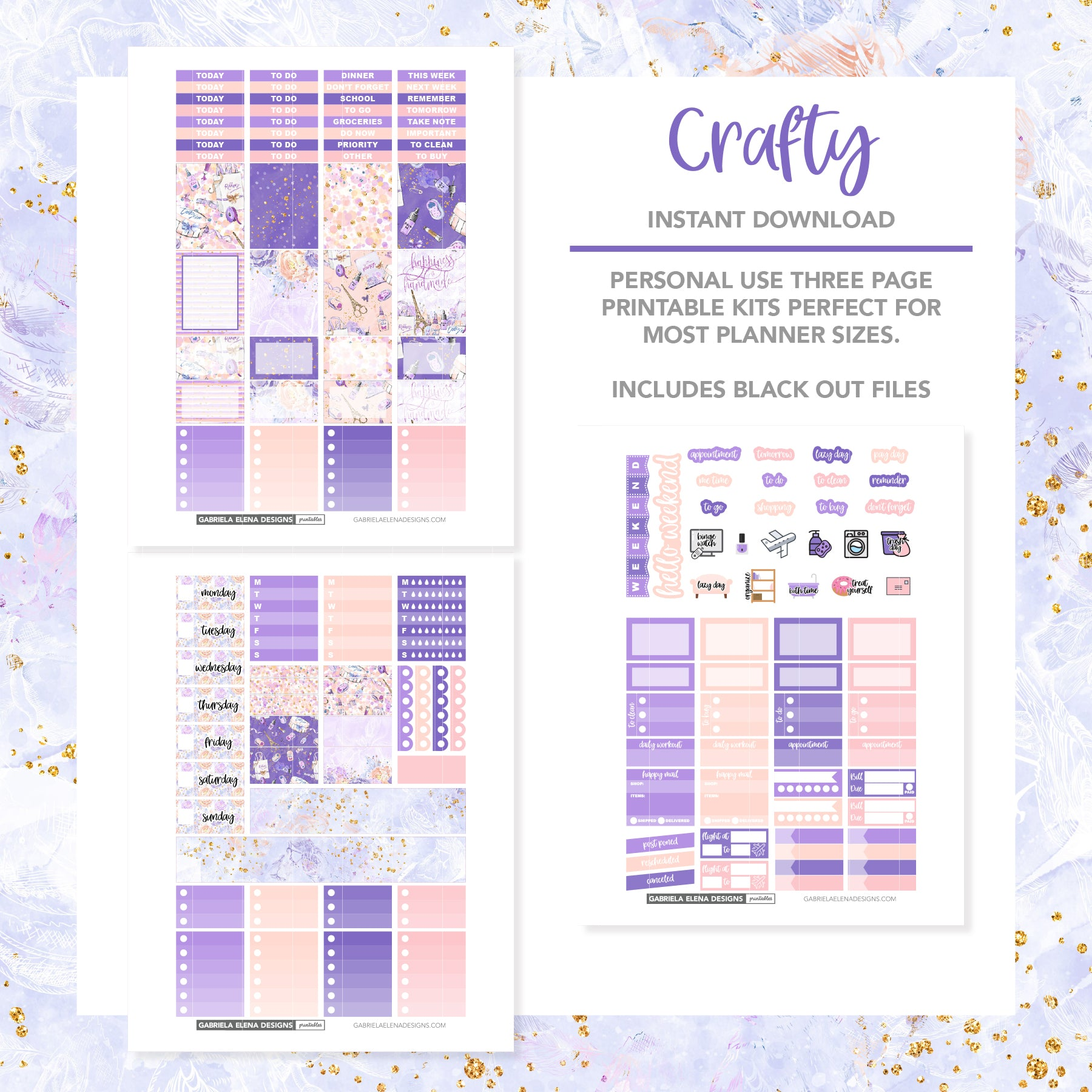 VERTICAL Printable / Instant Download / Crafty