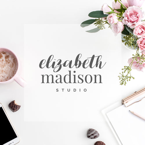 Pre-made Logo // Elizabeth Madison