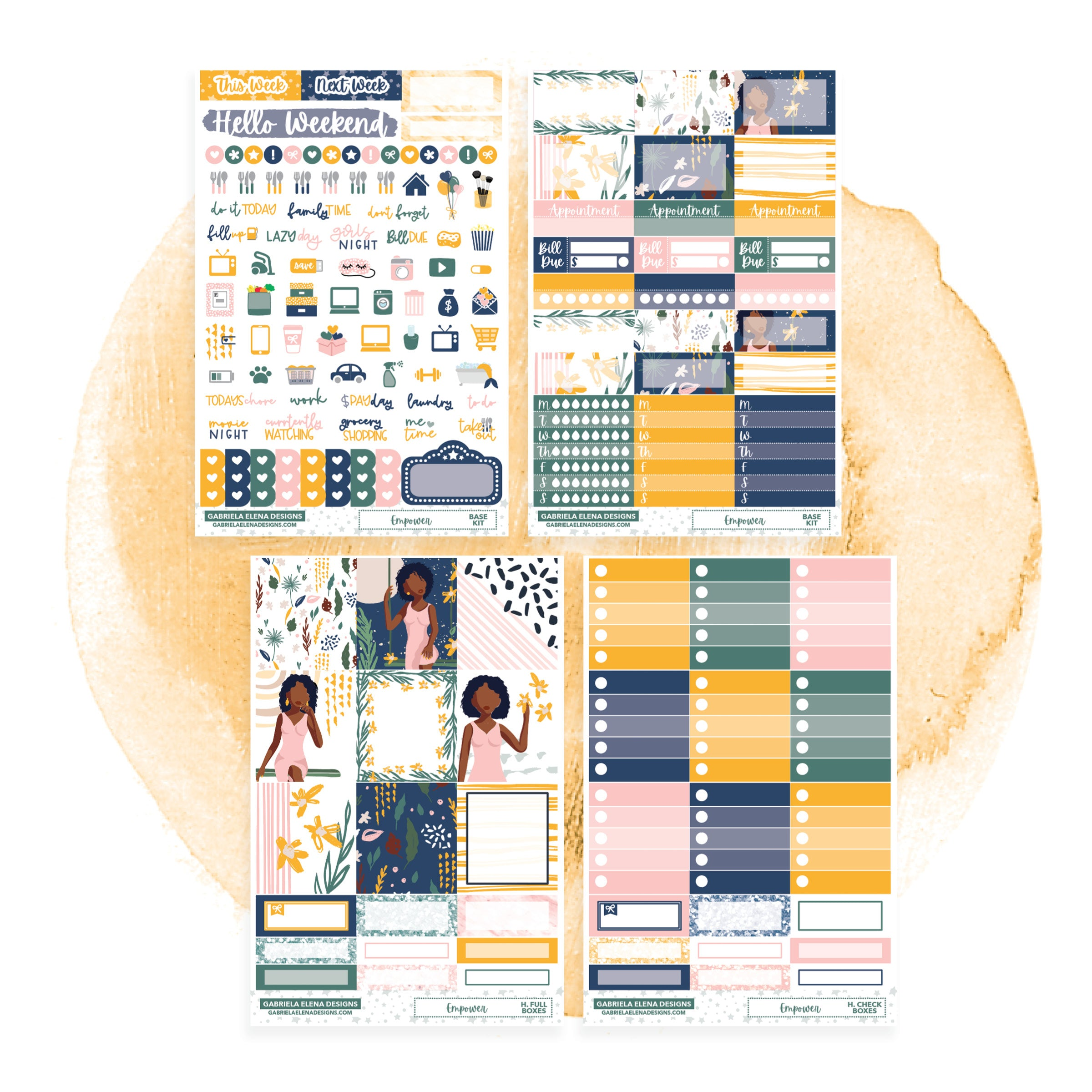 Empower // HORIZONTAL / Sticker Kit / FOIL