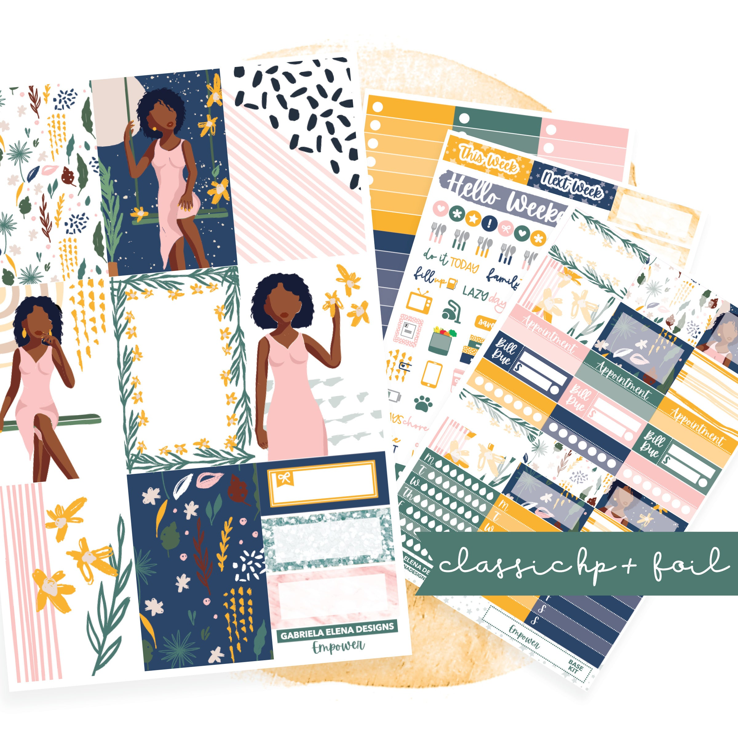 Empower // CLASSIC HAPPY PLANNER / Sticker Kit / FOIL