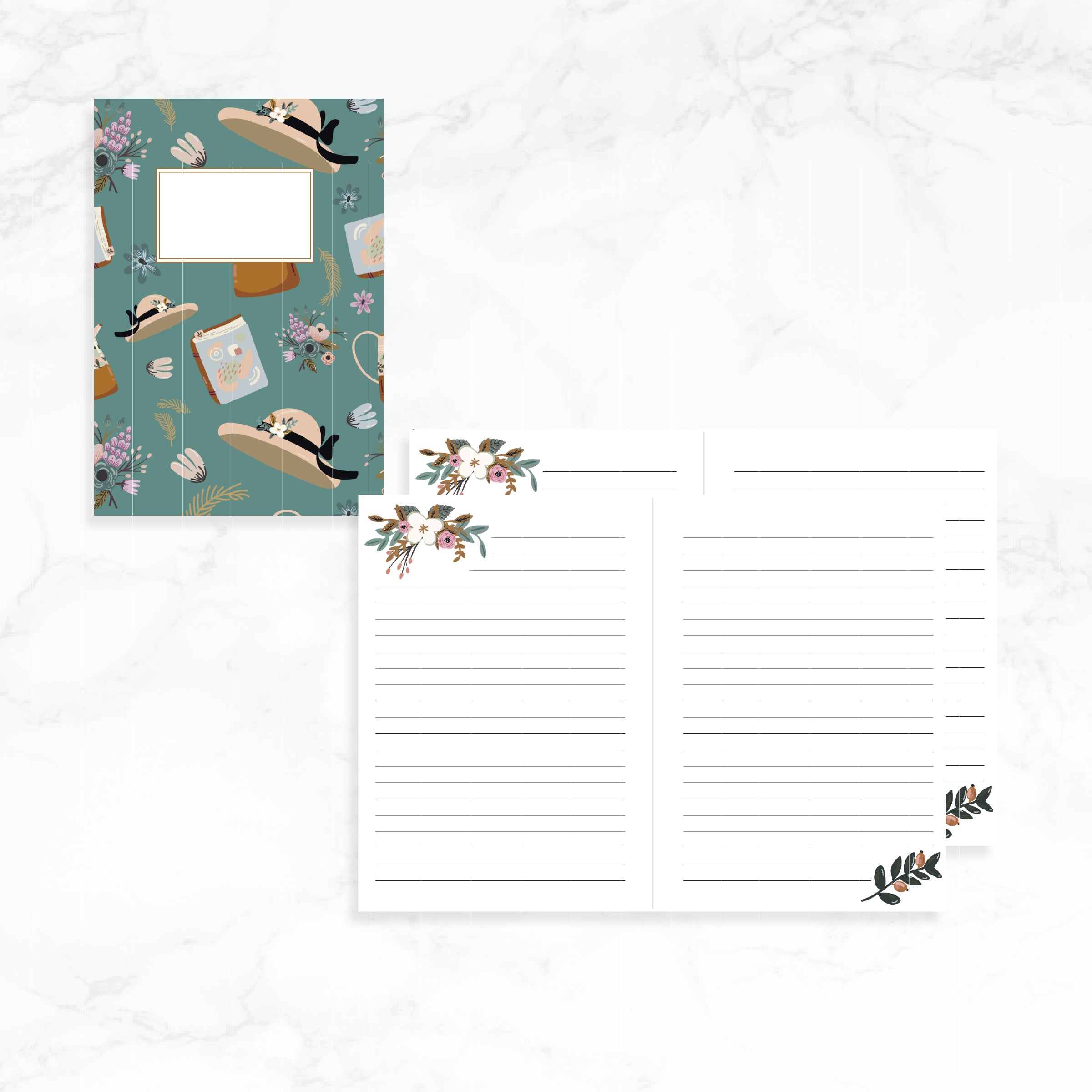 A6 Travelers Notebook Printable / Instant Download // Fall 2 // Lined Journal TN