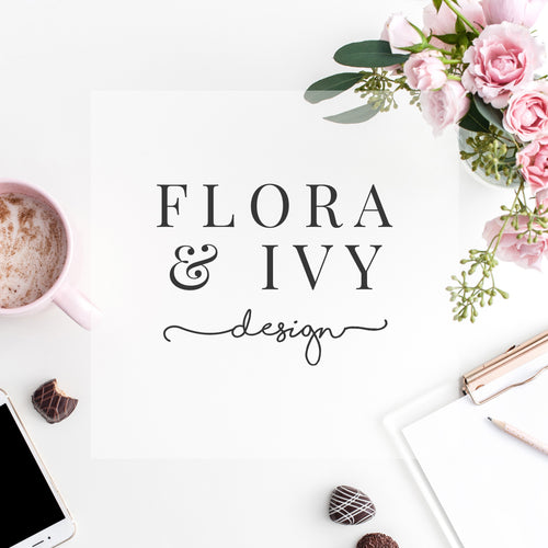 Pre-made Logo // Flora and Ivy