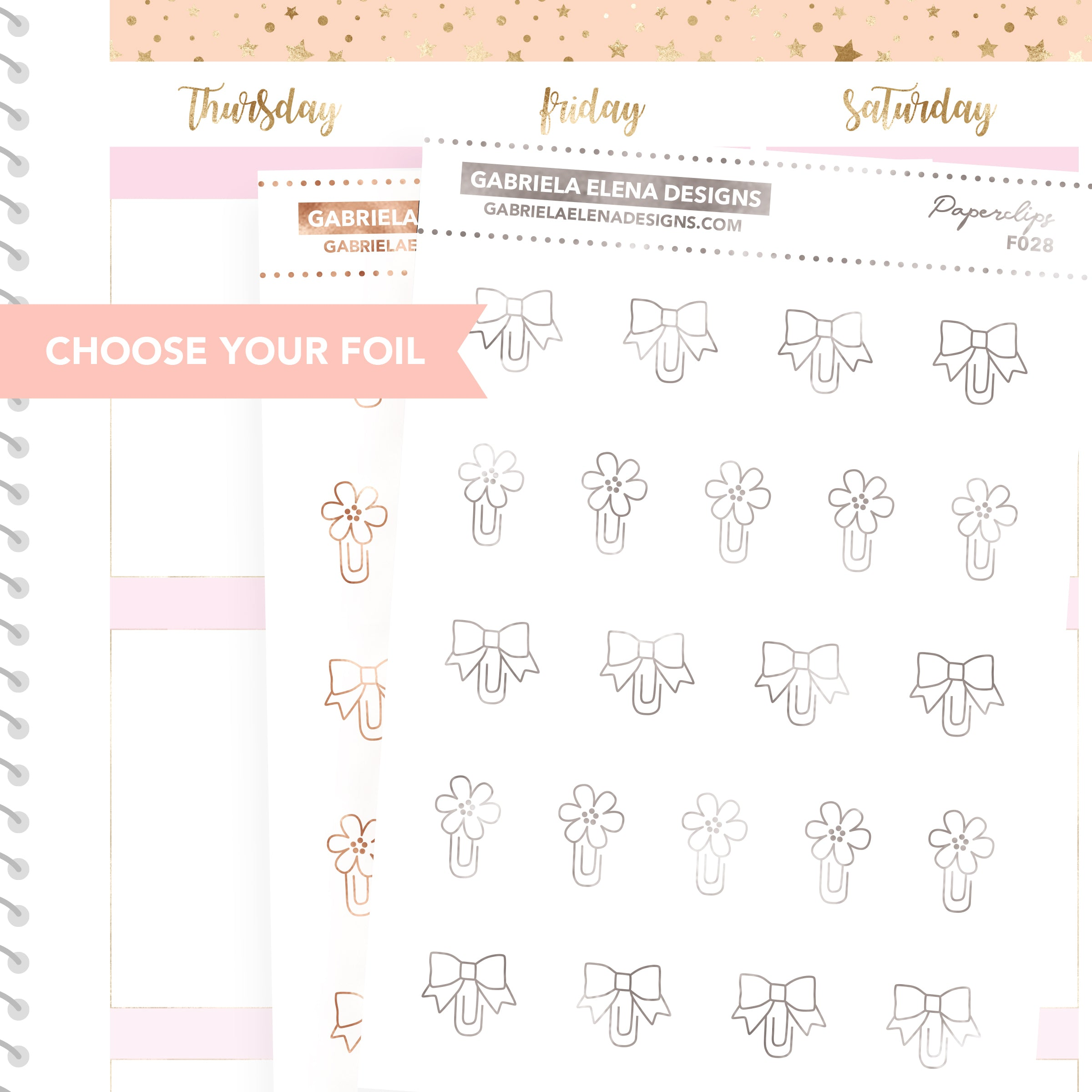 Paperclips / FOIL Stickers / Choose Your Foil