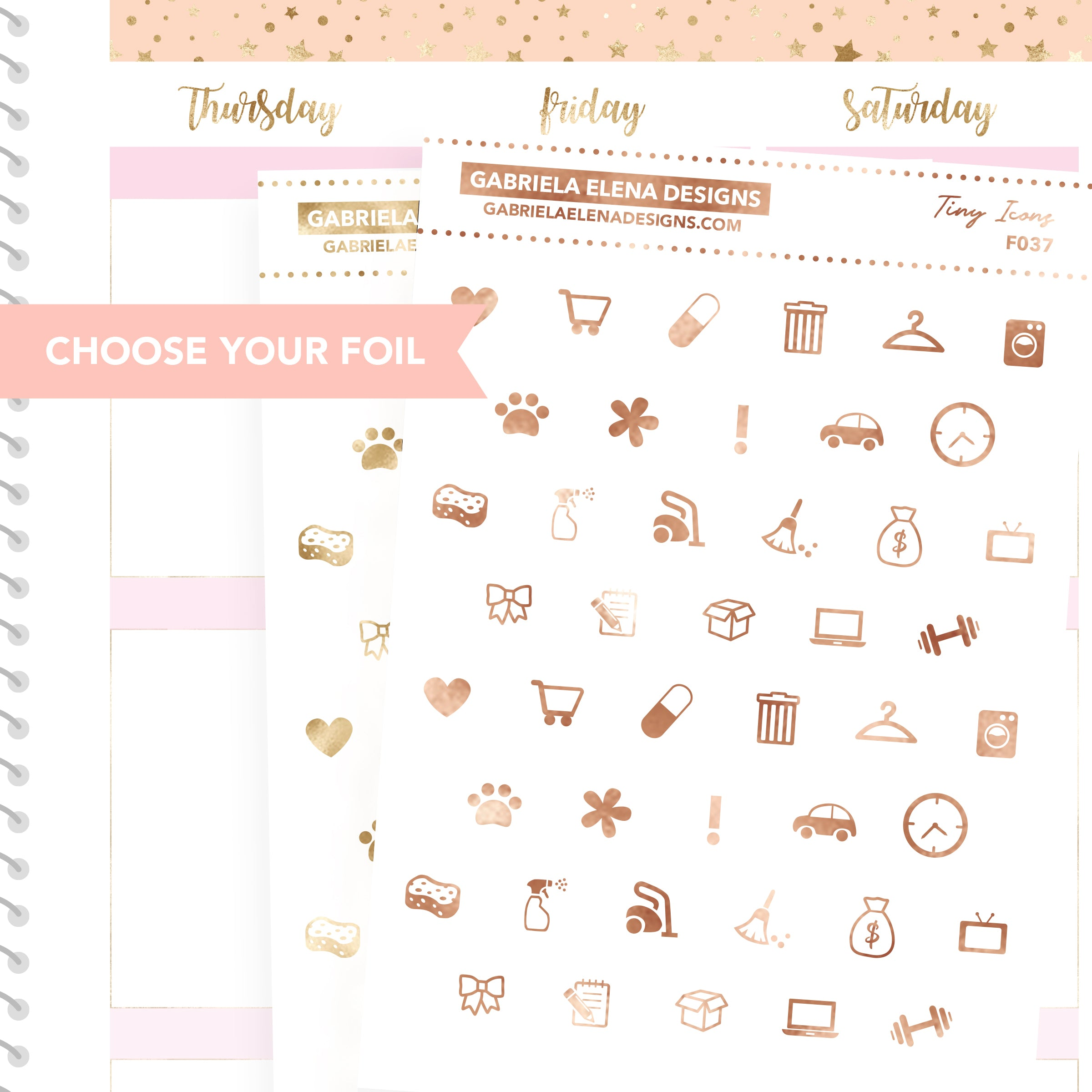 Tiny Icons / FOIL Stickers / Choose Your Foil