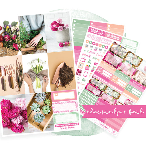 Freshly Picked / Photo Series // CLASSIC HAPPY PLANNER / Sticker Kit / FOIL