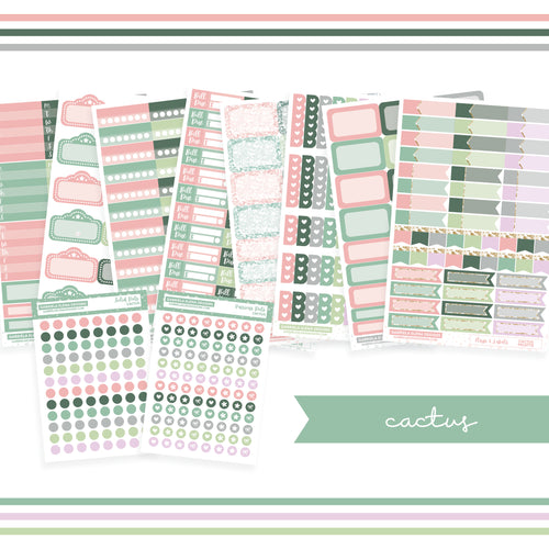 BUNDLE // Functional Planner Stickers / Cactus