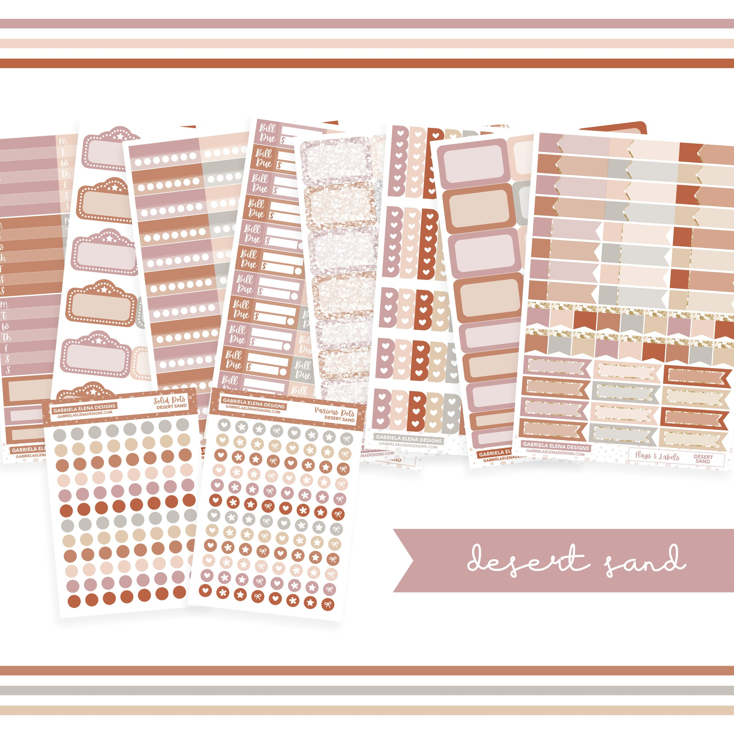 BUNDLE // Functional Planner Stickers / Desert Sand