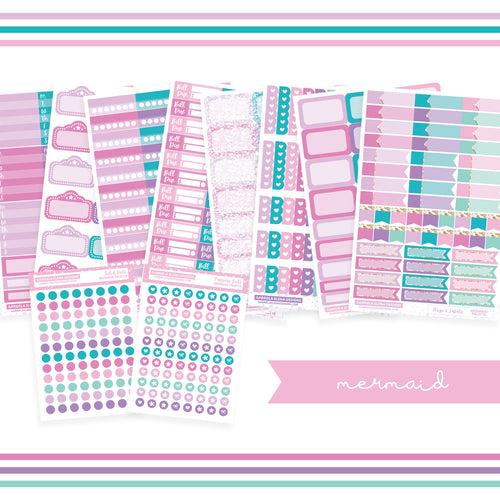 BUNDLE // Functional Planner Stickers / Mermaid