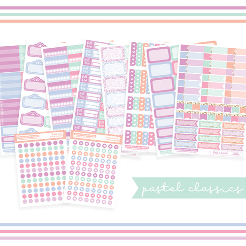 BUNDLE // Functional Planner Stickers / Pastel Classics