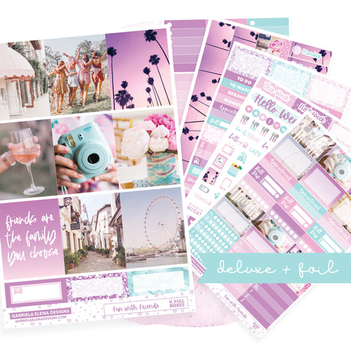 Fun with Friends / Photo Series // Deluxe VERTICAL // Sticker Kit // Full Weekly Kit / FOIL