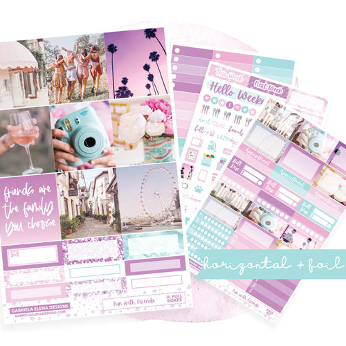 Fun with Friends / Photo Series // HORIZONTAL / Sticker Kit / FOIL