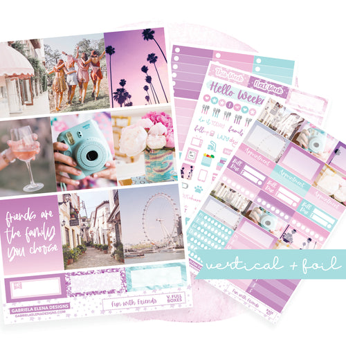 Fun with Friends / Photo Series // VERTICAL / Sticker Kit / FOIL