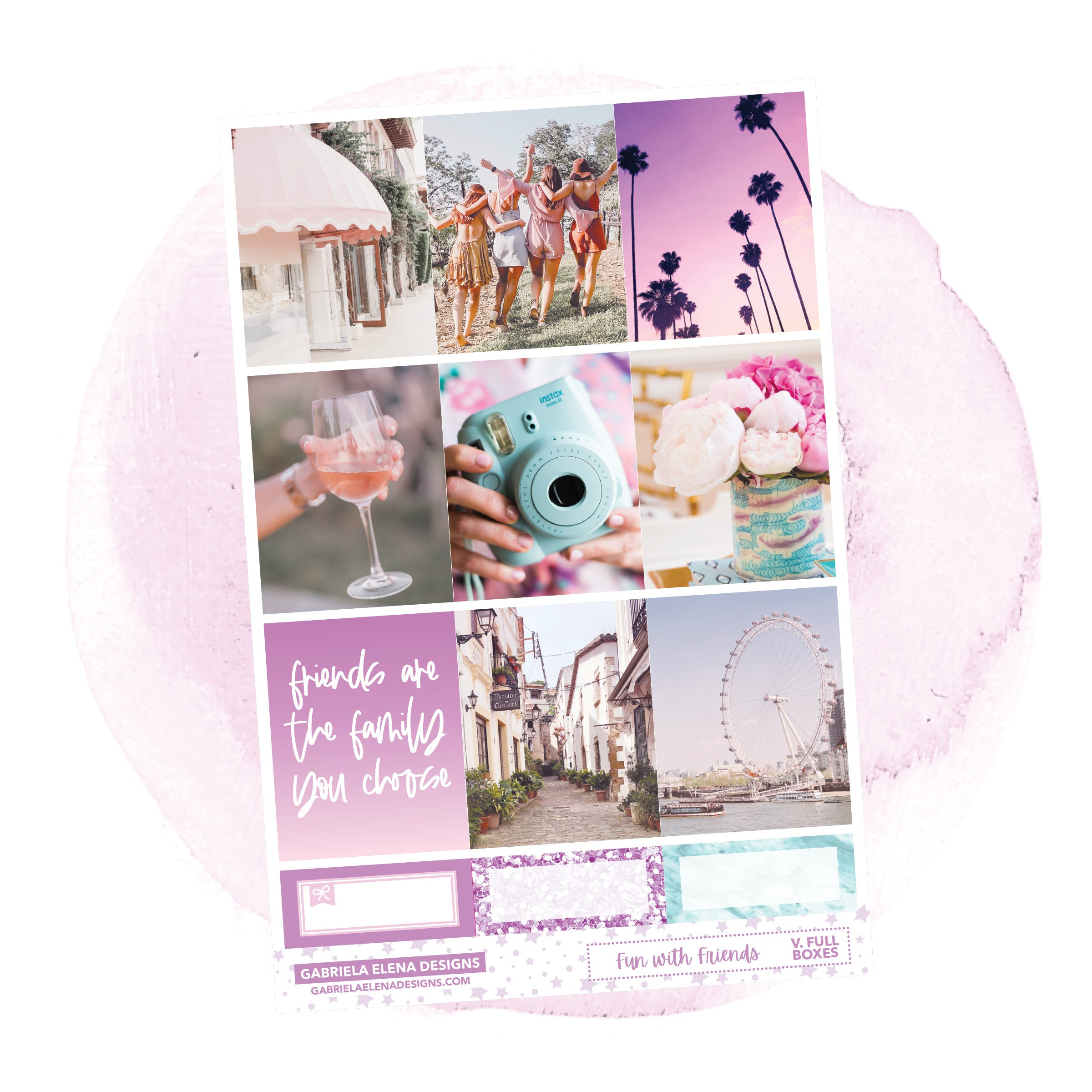 Fun with Friends / Photo Series // a la carte / Sticker Kit / Full Boxes / FOIL