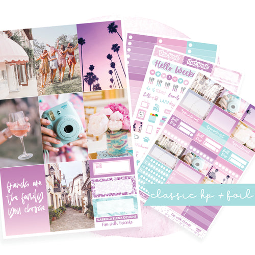 Fun with Friends / Photo Series // CLASSIC HAPPY PLANNER / Sticker Kit / FOIL