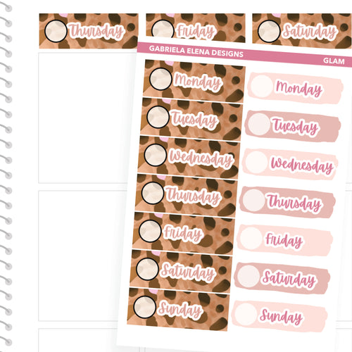 Glam // a la carte / Sticker Kit Add On / Date Headers / FOIL