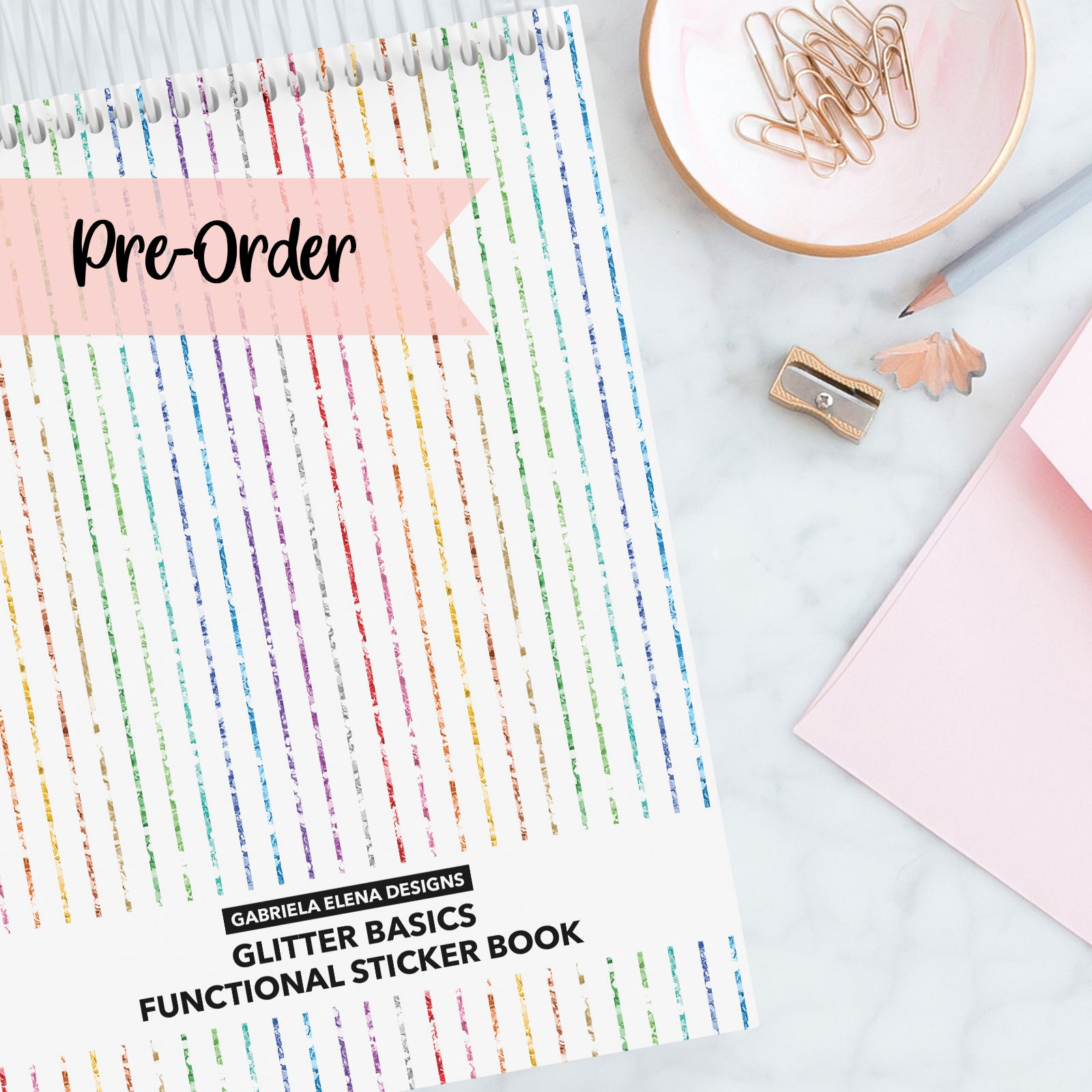 PRE-ORDER // Functional Glitter Basics // Sticker Book // 20 pages