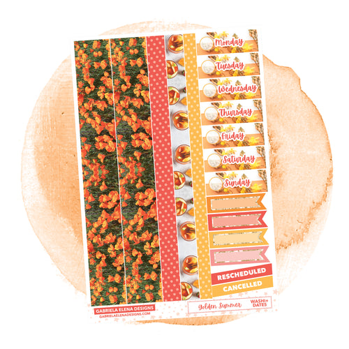 Golden Summer // a la carte / Sticker Kit Add On / Washi and Date Covers / FOIL
