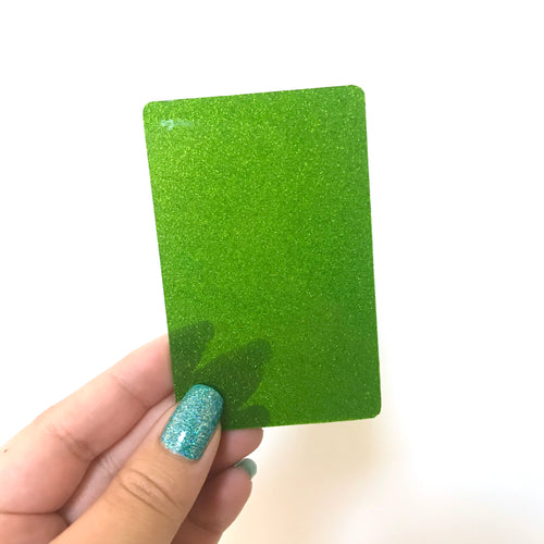 Washi Card // Green Glitter