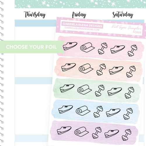 Gym Sampler / FOIL Stickers / Choose Your Foil / Pastels