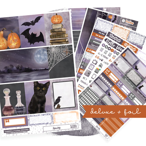 Spooky // Deluxe VERTICAL // Sticker Kit // Full Weekly Kit / FOIL
