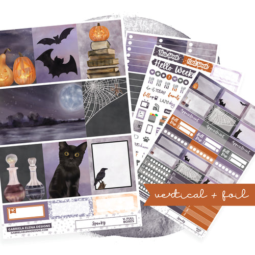Spooky // VERTICAL / Sticker Kit / FOIL