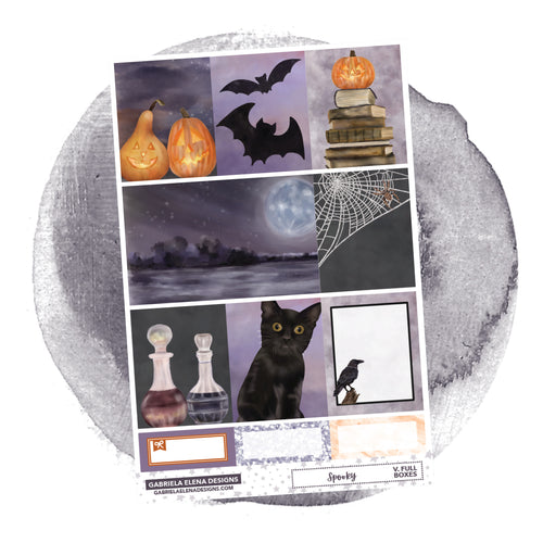 Spooky // a la carte / Sticker Kit / Full Boxes / FOIL