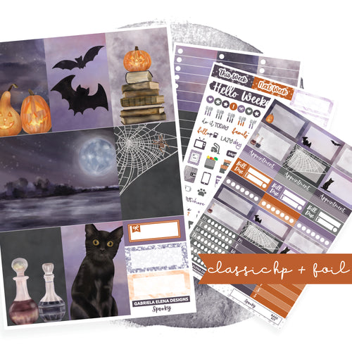 Spooky // CLASSIC HAPPY PLANNER / Sticker Kit / FOIL
