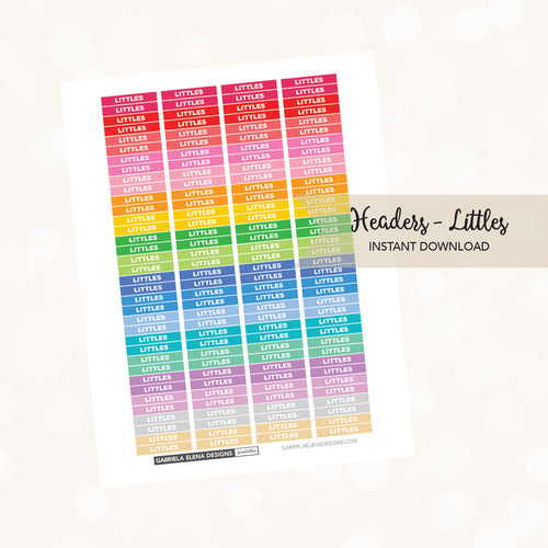 Printable / Instant Download / Headers - Littles