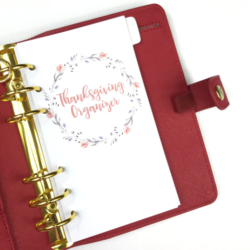 Holiday Personal Inserts // Thanksgiving Organizer